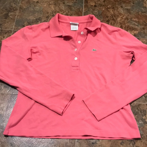 Lacoste Tops - Vintage pink Lacoste long sleeve polo